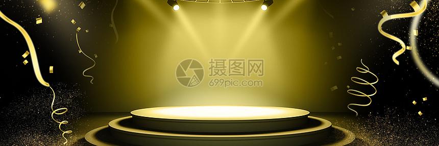 黑金舞台背景图片