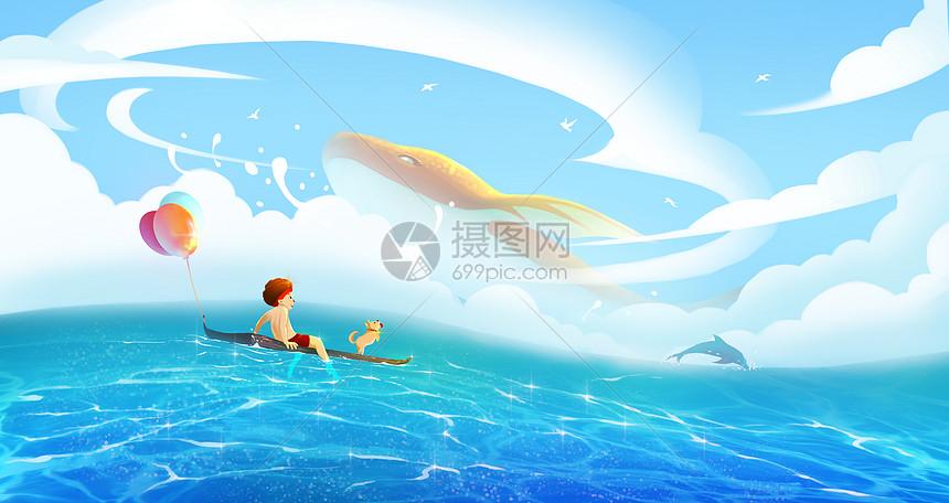 儿童节海上游玩图片