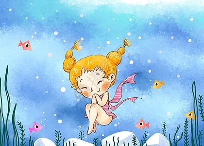 爱潜水的女孩图片