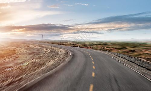 汽车公路海报背景图片