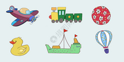 儿童玩具插画图片