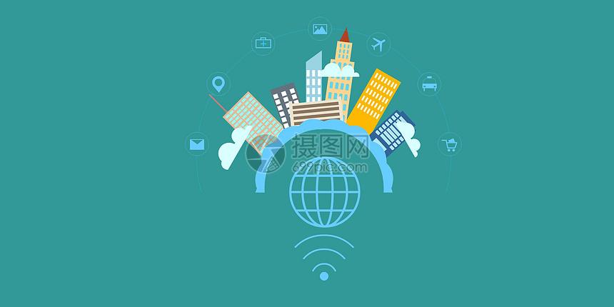 城市互联矢量插图图片