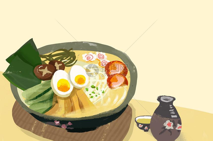 日式叉烧拉面图片