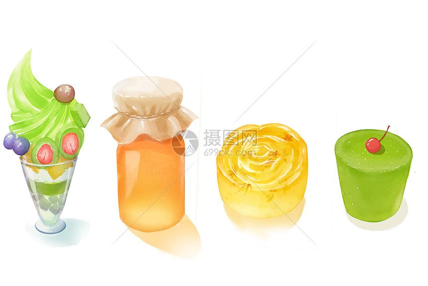 甜点美食插画素材图片