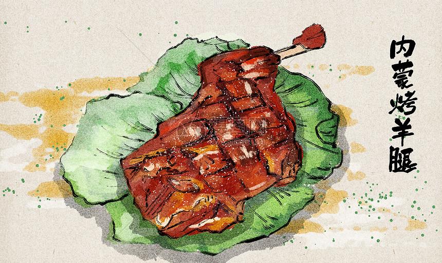 内蒙烤羊腿图片