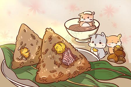 端午 仓鼠与板栗肉粽图片