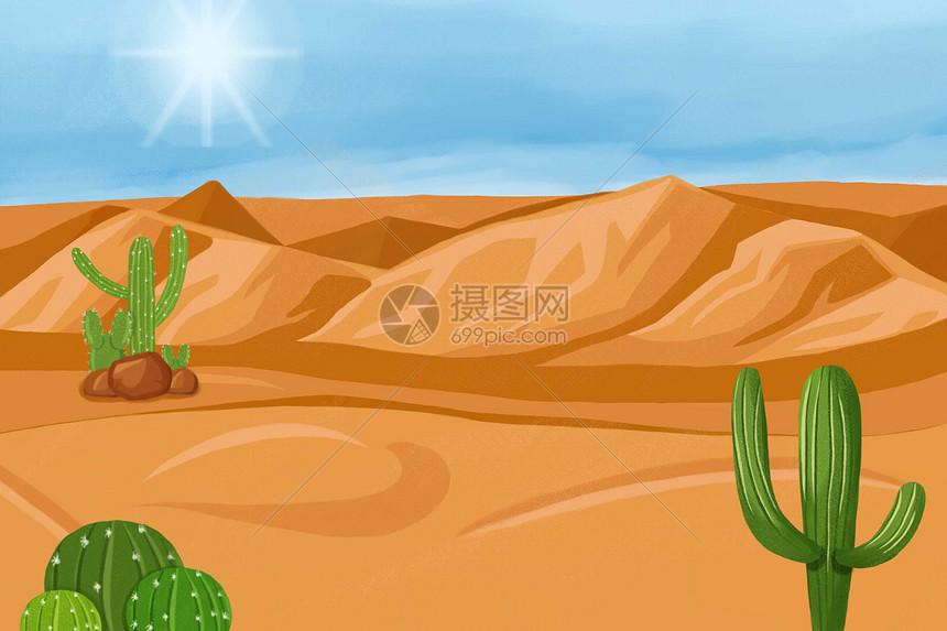 防治沙漠荒化图片