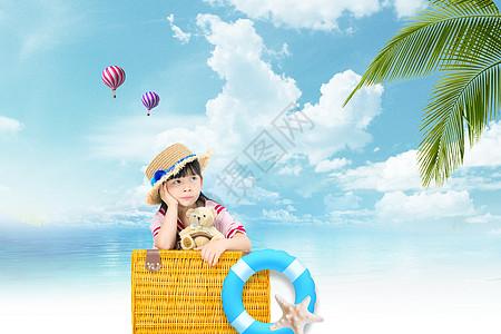 旅行海岛夏日清凉背景图片