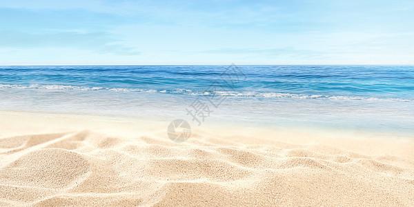 沙滩夏日清凉背景图片