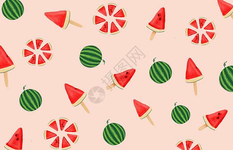 水果插画背景图片