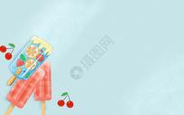 夏天清新甜品雪糕图片