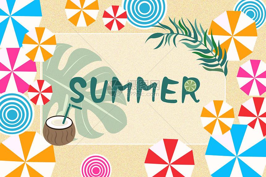 夏季促销背景图片
