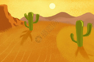 防治沙漠荒芜保护环境图片