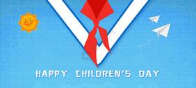 六一儿童节大气作品主题图片