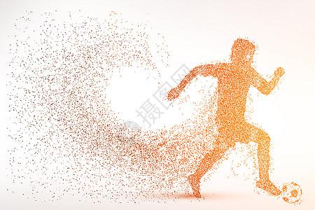 创意足球比赛剪影粒子图片