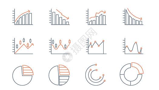 线性股市折线图图片