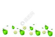 苹果清新留白背景图片