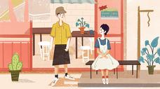 情人节主题插画图片