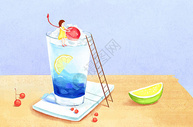 夏天创意清凉饮品图片