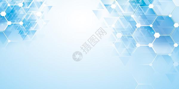 六边形科技背景图片