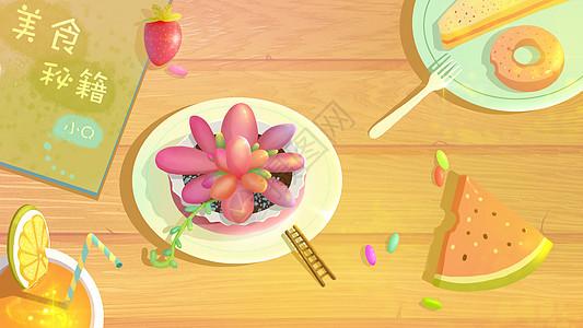 夏季美食与植物图片