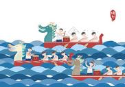 端午赛龙舟图片