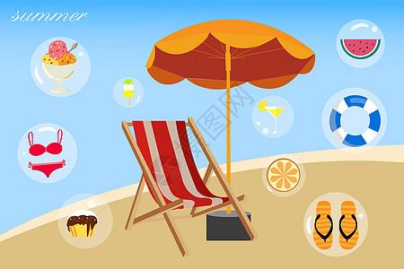夏季海边元素图片