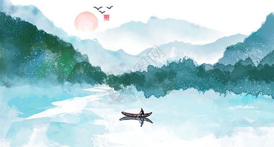 山水水墨图片