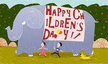 六一儿童节主题插画图片