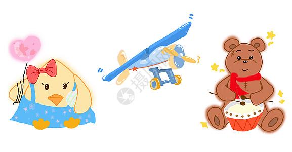 卡通可爱玩具图片