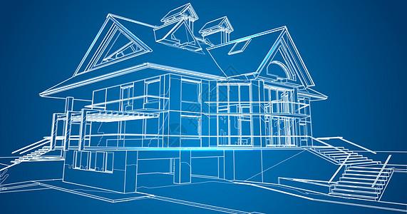 建筑空间场景线条图片