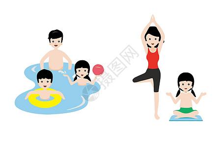 家庭运动背景素材图片