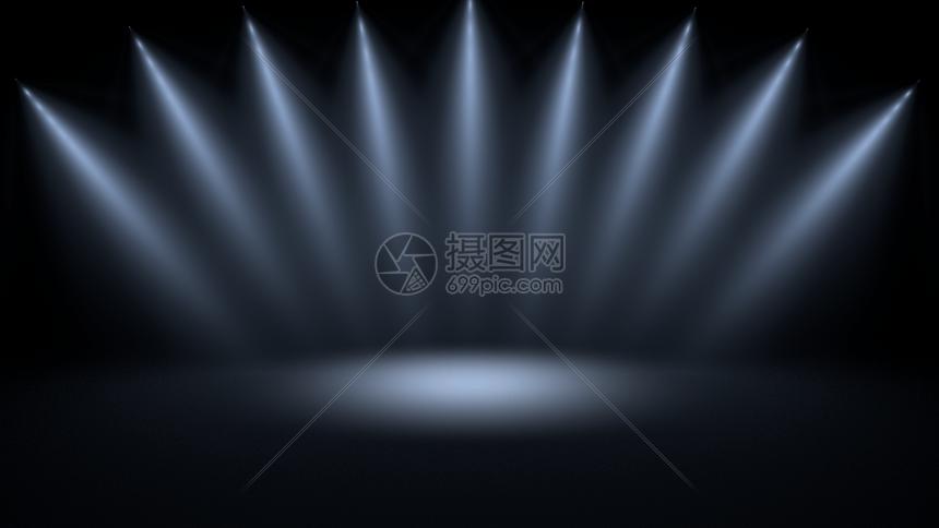 射灯舞台黑色场景图片