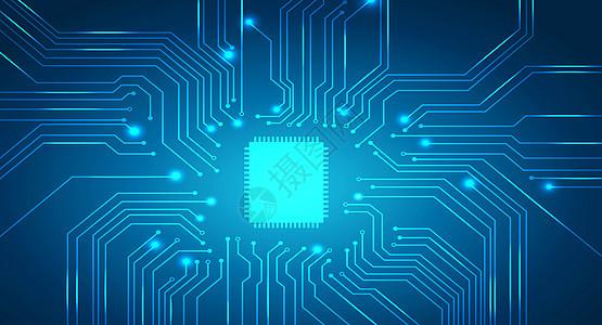 科技电路芯片背景图片