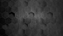 创意酷黑六边形背景图片