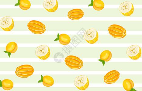 水果背景插画图片
