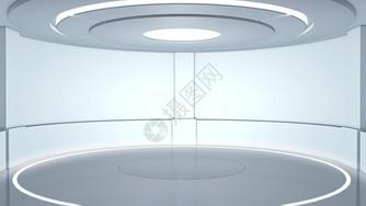科技舞台空间背景图片