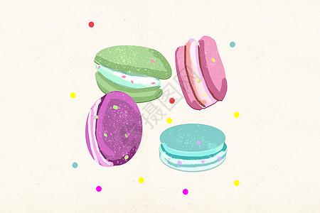 马卡龙甜点美食图片