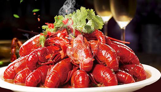 小龙虾背景图片