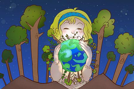绿色地球图片
