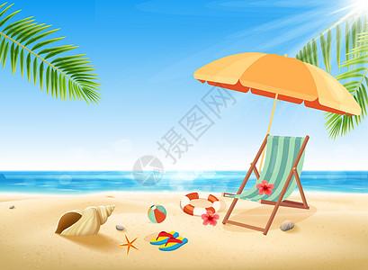 夏天度假插画图片