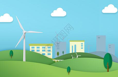 绿色生态城市剪纸图片