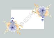 花卉植物边框图片