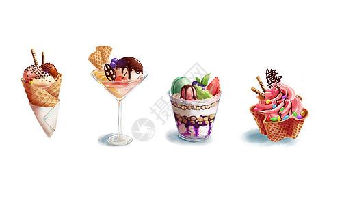 创意冰激凌插画图片