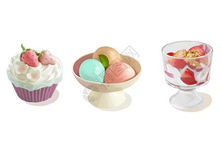 甜品甜点手绘插画图片