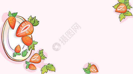 草莓背景图图片