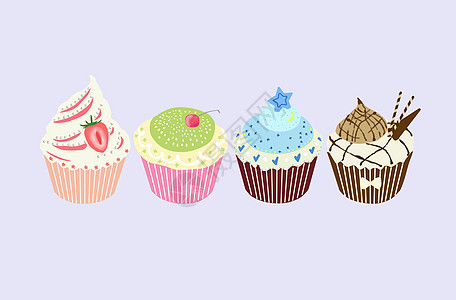蛋糕素材插画图片