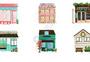 手绘风格小房子图片