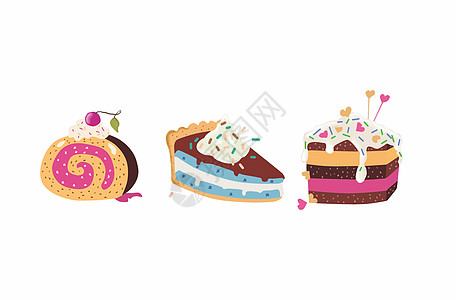 甜点蛋糕插画图片