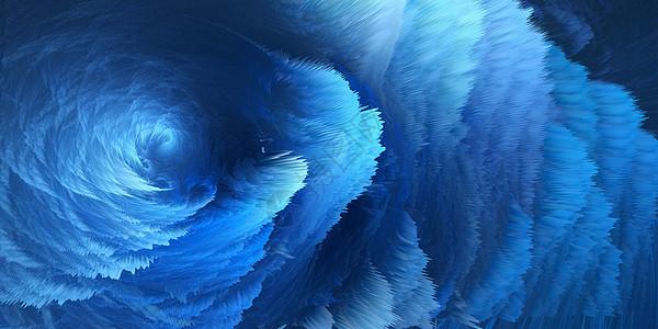 蓝色漩涡图片